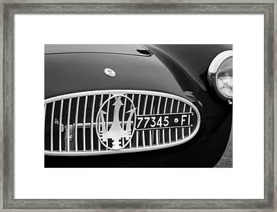 1955 Maserati A6gcs Roadster Grille Emblem Framed Print by Jill Reger