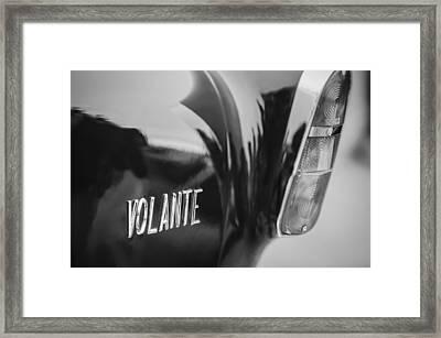 1956 Aston Martin Short Chassis Volante Taillight Emblem Framed Print by Jill Reger