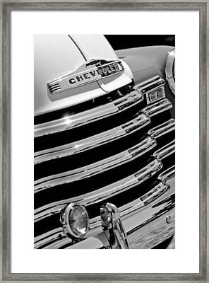 1956 Chevrolet 3100 Pickup Truck Grille Emblem Framed Print by Jill Reger