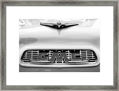 1956 Gmc 100 Deluxe Edition Pickup Truck Hood Ornament - Grille Emblem Framed Print by Jill Reger