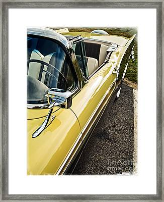 1957 Ford Fairlane 500 Skyliner Retractable Hardtop Convertible Framed Print by Edward Fielding