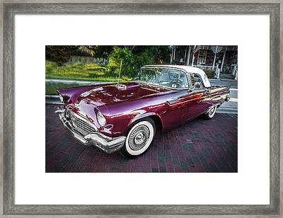 1957 Ford Thunderbird Convertible Painted    Framed Print by Rich Franco