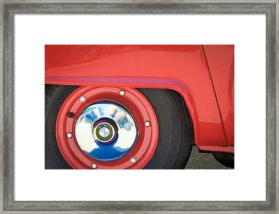 1958 Bmw Isetta 300 Wheel Emblem Framed Print by Jill Reger