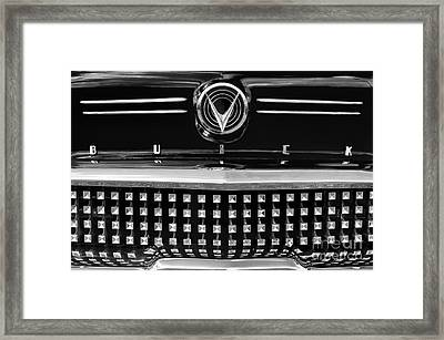 1958 Buick Special Monochrome Framed Print by Tim Gainey