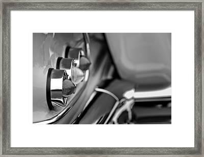 1958 Chevrolet Impala Tail Lights Framed Print by Jill Reger