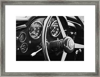 1960 Aston Martin Db4 Gt Coupe' Steering Wheel Emblem Framed Print by Jill Reger
