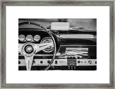 1960 Maserati 3500 Gt Spyder Steering Wheel Emblem Framed Print by Jill Reger
