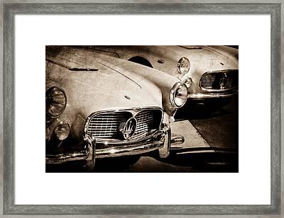 1960 Maserati Grille Emblem Framed Print by Jill Reger