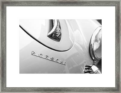 1960 Porsche 356 B 1600 Super Roadster Hood Emblem Framed Print by Jill Reger