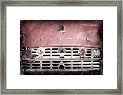 1960 Triumph Tr3 Grille Emblems Framed Print by Jill Reger
