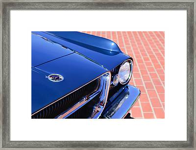 1962 Ghia L6.4 Coupe Grille Emblem Framed Print by Jill Reger