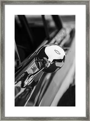 1963 Chevrolet Nova Rear View Mirror Emblem Framed Print by Jill Reger