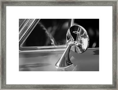1965 Chevrolet Corvette Rear View Mirror Emblem Framed Print by Jill Reger