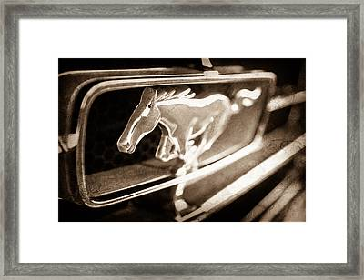 1965 Shelby Prototype Ford Mustang Grille Emblem Framed Print by Jill Reger