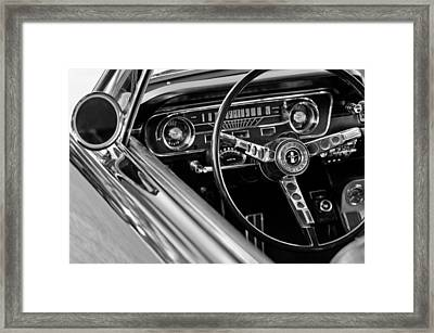 1965 Shelby Prototype Ford Mustang Steering Wheel Framed Print by Jill Reger