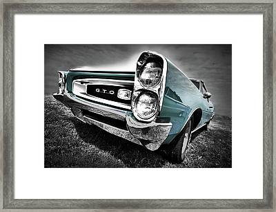 1966 Pontiac Gto Framed Print by Gordon Dean II