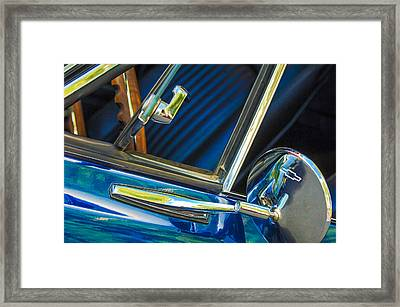 1967 Chevrolet Camaro Ss 350 Rear View Mirror Emblem Framed Print by Jill Reger