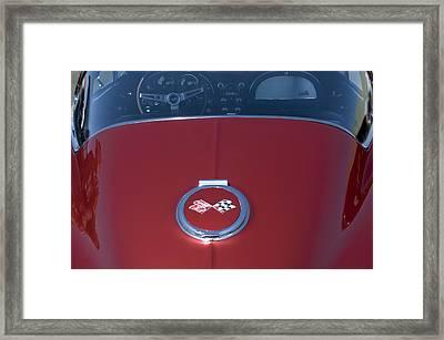 1967 Chevrolet Corvette Gas Cap Emblem Framed Print by Jill Reger