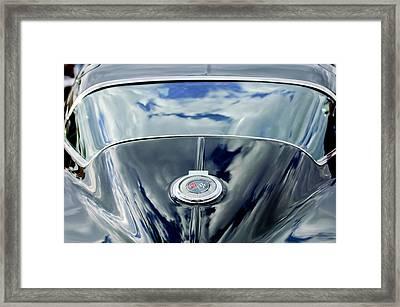 1967 Chevrolet Corvette Rear Emblem Framed Print by Jill Reger
