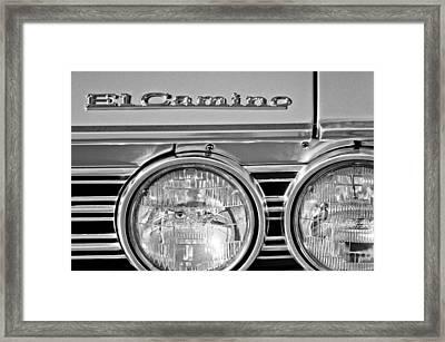 1967 Chevrolet El Camino Pickup Truck Headlight Emblem Framed Print by Jill Reger
