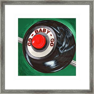 1967 Shelby Mustang Nitros Button  Eleanor Go Baby Go Framed Print by Jack Pumphrey
