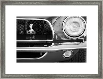 1968 Ford Mustang Fastback 427 Ci Cobra Grille Emblem Framed Print by Jill Reger