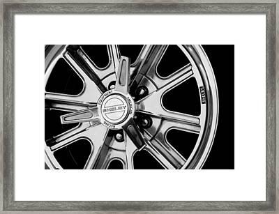 1968 Ford Mustang Fastback 427 Shelby Cobra Wheel Framed Print by Jill Reger