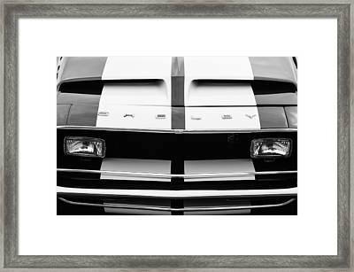1968 Shelby Gt500 Fastback Grille Emblem Framed Print by Jill Reger