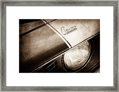 1969 Chevrolet Camaro Z-28 Emblem Framed Print by Jill Reger