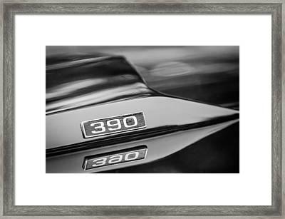 1969 Ford Mustang Mach 1 390 Hood Emblem Framed Print by Jill Reger