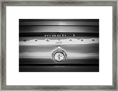 1969 Ford Mustang Mach 1 Rear Emblem Framed Print by Jill Reger