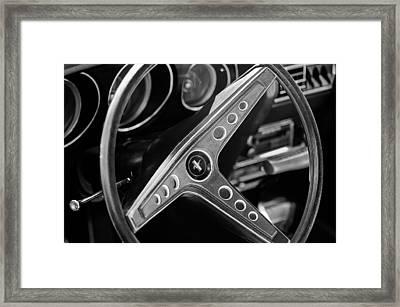 1969 Ford Mustang Mach 1 Steering Wheel Emblem Framed Print by Jill Reger