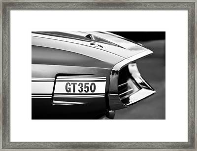 1969 Ford Shelby Gt 350 Convertible Emblem Framed Print by Jill Reger