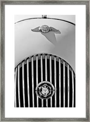 1969 Morgan Roadster Grille Emblems Framed Print by Jill Reger