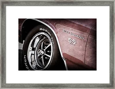 1970 Chevrolet El Camino Ss 454 Ci Wheel - Side Emblem Framed Print by Jill Reger