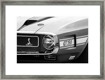 1970 Ford Mustang Convertible Gt350 Replica Grille Emblem Framed Print by Jill Reger