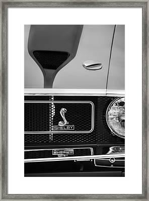 1970 Ford Mustang Gt350 Replica Grille Emblem Framed Print by Jill Reger