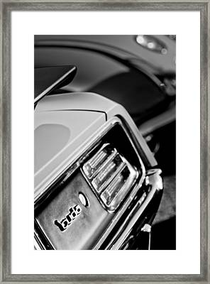 1970 Pontiac Barracuda Cuda Taillight Emblem Framed Print by Jill Reger