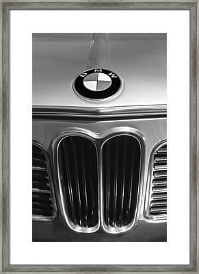 1972 Bmw 2000 Tii Touring Grille Emblem Framed Print by Jill Reger