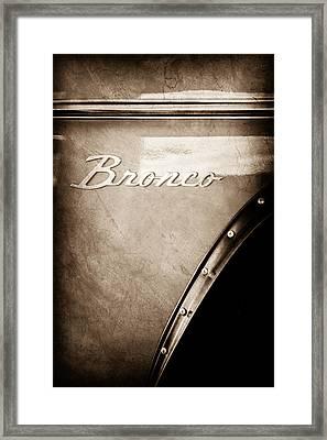 1973 Ford Bronco Custom 2 Door Emblem Framed Print by Jill Reger