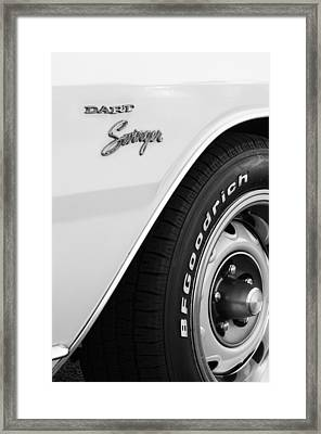 1975 Dodge Dart Swinger Emblem Framed Print by Jill Reger