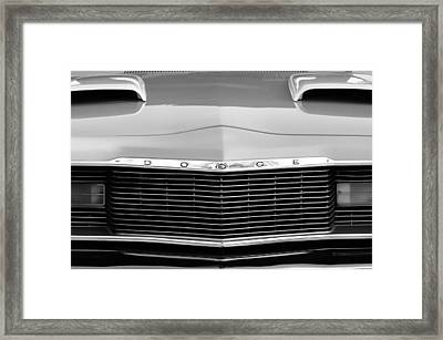 1975 Dodge Dart Swinger Grille Framed Print by Jill Reger