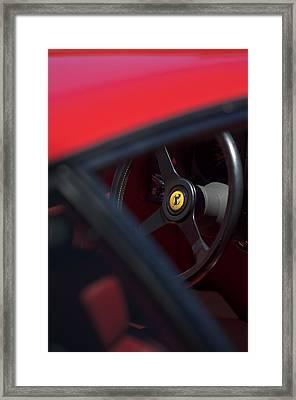 1984 Ferrari 512 Bbi Steering Wheel Emblem Framed Print by Jill Reger