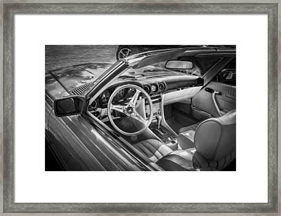 1984 Mercedes 500 Sl Painted Bw  Framed Print by Rich Franco