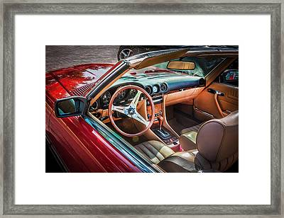 1984 Mercedes 500 Sl Painted  Framed Print by Rich Franco