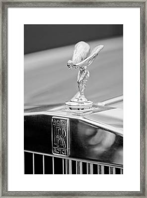 1984 Rolls-royce Silver Spur Hood Ornament Framed Print by Jill Reger