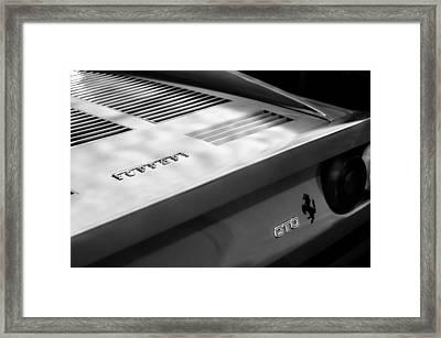 1985 Ferrari 288 Gto Taillight Emblem Framed Print by Jill Reger