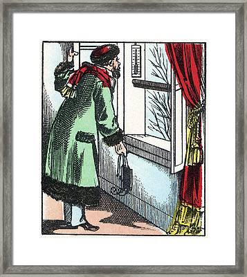19th Century Thermometer Framed Print by CCI Archives