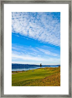 #2 At Chambers Bay Golf Course - Location Of The 2015 U.s. Open Tournament Framed Print by David Patterson