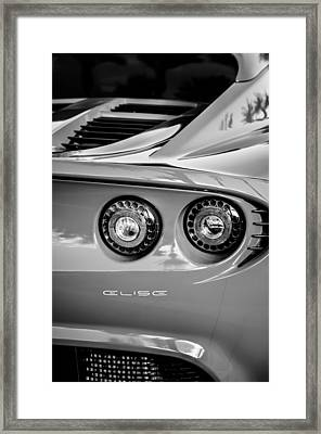 2006 Lotus Elise Taillight Emblem-0064bw Framed Print by Jill Reger